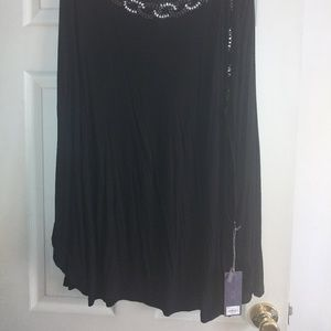 Black Mock Poncho Top